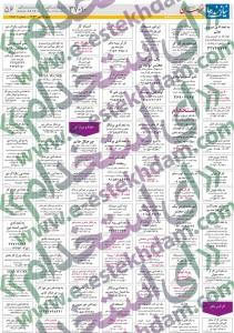 نیازمندیهای مشهد سایت کاریابی استخدام مشهد استخدام جدید 93